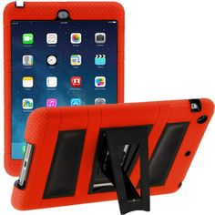 i-Blason Apple iPad Mini with Retina Display ArmorBox 2 Layer Convertible [Hybrid] Full-Body Protection KickStand Case with Built-in Screen Protector for Kids Friendly (Red/Black) Ipad Mini Cases, Ipad Mini 2, Ipad Case, Mini Apple, Apple New, Hp Computers, Retina Display, New Ipad, Apple Ipad