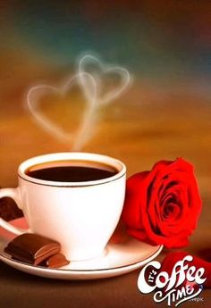 Good Morning Beautiful Pictures, Good Morning Images Flowers, Good Morning Picture, Morning Pictures, Night Flowers, Good Morning Coffee Gif, Good Morning Massage, Coffee Break, Gif Café