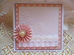 My card using Tim Holtz rosette die