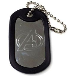 """Avengers Comic New Chain 4"""" Chain Dog Tag Stainless Steel / Rubber Edge EDG-0094"""