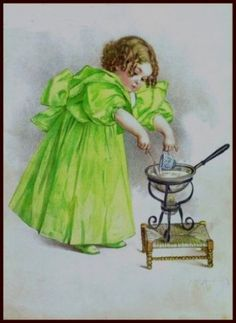 Amazon.com: The Cook by Maud Humphrey Art print (1897 / 1993) , Size: 8.1/2 X 11 Inches: Home & Kitchen