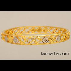 Traditional Gold Plated Bangle Bracelet | Kaneesha