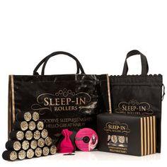 Sleep In Rollers Black & Gold Glitter Gift Set $30