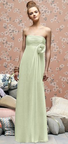 Mint green bridesmaid dress