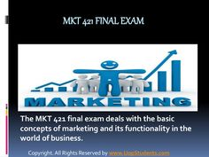 the paper contains an exclusive section for the students, the MKT 421 final exam answers free. The section comprises of answers to some of the questions as example for the students to understand the manner of writing the marketing final exam.