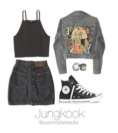 Designer Clothes, Shoes & Bags for Women Kpop Fashion Outfits, Korean Outfits, Grunge Outfits, Cute Casual Outfits, Comfortable Outfits, Teenager Outfits, Girl Outfits, Spring Outfits, Mode Kpop
