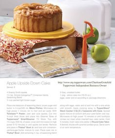 Tupperware® Stack Cooker recipe: bpa free kitchen: Apple Upside Down Cake