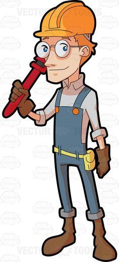 Cartoon Construction Worker Clip Art | Construction worker - Stock ...