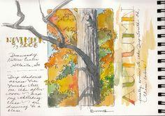 Marilynn Brandenburger: Watercolor journaling in autumn