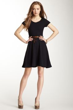Short Sleeve Belted Sweater Dress by Gracia on @nordstrom_rack