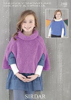 Sirdar Snuggly Snowflake Chunky Knitting Pattern - 2445 Cape