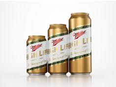 """ビールのミラーのリデザイン。並べた時のことも考えるんだなー。(via Miller High Life """"The Champagne of Beers"""" Re-Design)"""