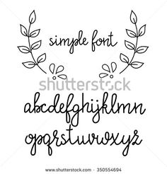 Simple handwritten pointed pen calligraphy cursive font. Calligraphy alphabet. Cute calligraphy letters. Isolated letters. Typography, decorative graphic design.