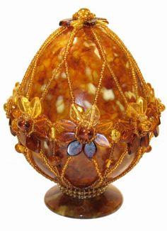 Russian amber egg