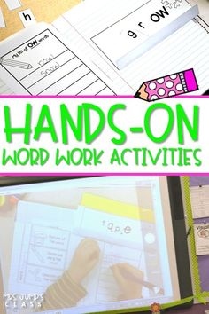 Hands-on word work activities for phonics lessons!   Great for kindergarten and first-grade students!   Use in whole group or as part of your small group instruction.