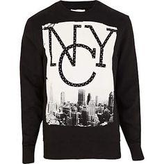 a16234a79bc Black NYC studded print sweatshirt £30.00