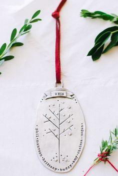 Grandparents gifts: custom family tree ornament