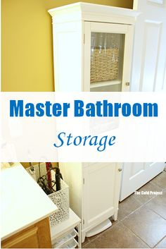 master bathroom storage