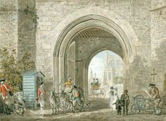 The Henry VIII Gateway with a view of St George's Chapel, c.1775, Paul Sandby. A watercolour drawing of the Henry VIII Gateway, looking into the Castle from the gate towards the west end of St George's Chapel and the Horseshoe Cloister. | Royal Collection