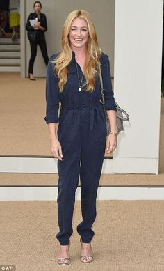 Cat Deeley was back on British soil for the Burberry presentation...