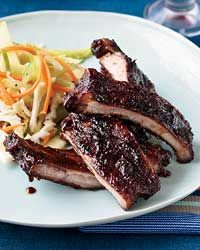 Apple-Glazed Barbecued Baby Back Ribs Recipe on Food & Wine