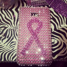 DIY Breast Cancer Awareness cell phone case!