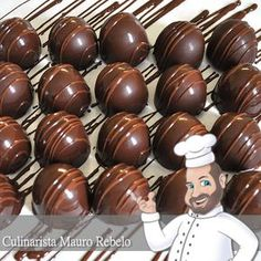 Técnica para Rechear Bombons  Usando chocolate fracionado Harald Top Meio Amargo Culinarista Mauro Rebelo Essa postagem é dedicada p...