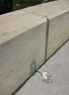 David Zinn and mice was at Zingerman's Delicatessen on July 20, 2013