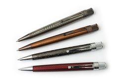 Retro 51 Tornado Vintage Metalsmith Roller Ball Pens -- really cool patterns. Vintage Pens, Metal Barrel, Jet Pens, Pen And Paper, Design Show, Cool Patterns, Wood Turning, Vintage Looks, Edc