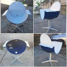 Car Furniture, Barrel Furniture, Iron Furniture, Steel Furniture, Recycled Furniture, Drum Seat, Drum Chair, Barrel Projects, Diy Projects