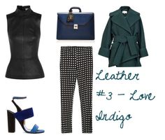 """""""Leather #3"""" by thenuprof on Polyvore featuring Thierry Mugler, Zara, Paul Andrew, Mark Cross and Carven"""