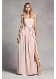 Available in strapless now too! Anyone like strapless? It's an option to try on. @csfields21 @nessaxrenae87  @liamsmommy1220 @devin13  @jmjanes1 @Arose5013 @jglod85 @mam346 @jeglod02  Long Strapless Bridesmaid Dress with Belt VW360307