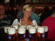 Oktober Fest in Munich, Germany. Held in late September or Early October. It celebrate beer. #Travel #OktoberFest #Festival