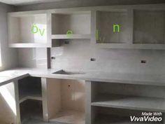 New Kitchen Interior, Kitchen Layout Plans, Wardrobe Design Bedroom, Rustic Kitchen Design, Concrete Kitchen, Kitchen Furniture, Bedroom Furniture, Bedroom Decor, Small House Plans