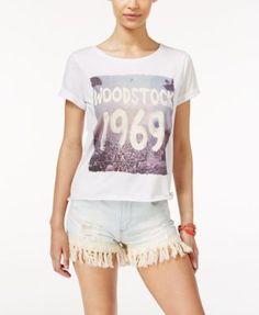 Lyrix Juniors' Woodstock Graphic T-Shirt | macys.com