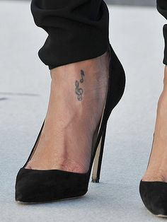 The singer's first tattoo is thought to have been the treble clef and Ankle Tattoos For Women, Beautiful Tattoos For Women, Shoulder Tattoos For Women, Tattoos For Kids, Sleeve Tattoos For Women, Arm Tattoos For Guys, Unique Wrist Tattoos, Small Foot Tattoos, Meaningful Tattoos For Women