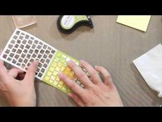 card making technique video from {capture the moment}: SAF 2014: Explore Ancient Rome with Lizzie Jones ... three techniques for using the die to create mosaics for your cards ...