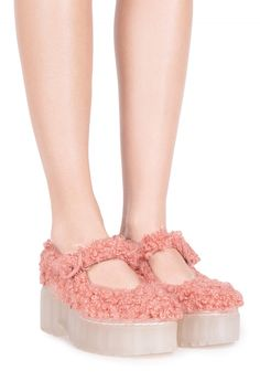 Jeffrey Campbell Shoes MARJA-F New Arrivals in Pink Poodle Clear
