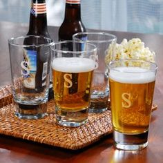 Personalized Pint Glasses (Set of 4) RaeBella Weddings & Events New York http://www.amazon.com/dp/B003AL0EMU/ref=cm_sw_r_pi_dp_Qeevub0A4C6ND