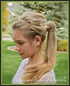 Locks and Locks of Hairstyles: Quick and Easy Video Tutorials: Braided Headband with Celebrity Ponytail