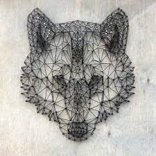 Image result for diy wall string art wolf