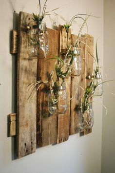 Décorations créatives avec palettes et bocaux en verre recyclés! 20 idées pour vous inspirer…