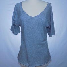 Velvet Heather Gray Short Sleeve Tee Unhemmed, rolled edges. Boat neck. Longer sleeves, super cute twist on a basic! Velvet Tops Tees - Short Sleeve