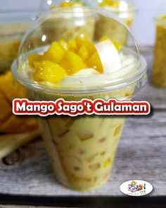 Mango Sago't Gulaman Recipe is a very easy to make salad drink dessert. It has a perfect blend of fresh sweet mangoes, chewy sago and gulaman with a sweet, creamy milk syrup. Filipino Dishes, Filipino Desserts, Filipino Recipes, Pinoy Recipe, Filipino Food, Mango Dessert Recipes, Mango Recipes, Dinner Recipes, Mango Sago