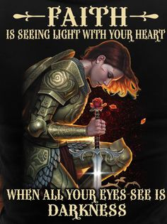Faith is seeing light with your heart. Spiritual Warrior, Prayer Warrior, Spiritual Warfare, Spiritual Attack, Bible Verses Quotes, Bible Scriptures, Faith Quotes, Women Of Faith, Faith In God