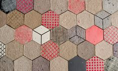 Recycled paper becomes 3-d wallpaper!
