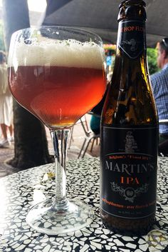 20-Sep-2015: Martin's IPA by Brewery John Martin. Some bitterness, but not much. A little sweet. A little fruity. Not my favorite IPA, but it was decent enough as it sat in the glass a while. #ottbeerdiary