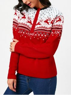 Up to 68% OFF! Half Zip Christmas Deers Pattern Pullover Sweater. #Zaful #sweater Zaful, zaful outfits, fashion, style, tops, outfits, blouses, sweatshirts, hoodies, cardigan, turtleneck,cashmere,cashmere sweater sweater, cute sweater, floral sweater, cropped hoodies, pearl sweater, knitwear, fall, winter, winter outfits, winter fashion, fall fashion, fall outfits, Christmas, ugly, ugly Christmas, Thanksgiving, gift, Christmas hoodies, Black Friday, Cyber Monday @zaful Extra 10% OFF…