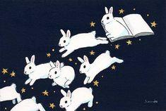 Acrylic Paint by Schinako Moriyama. Schinako Moriyama is an illustrator as bunny art from Fukushima, Japan Continue reading and for more Acrylic art→View Website Bunny Drawing, Bunny Art, Rabbit Art, Cute Illustration, Art Day, Art Tutorials, Cute Drawings, Art Sketches, Cute Art
