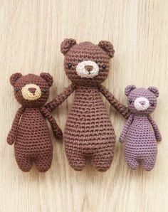 Bear crochet patterns by Little Bear Crochets on Ravelry: http://www.ravelry.com/stores/little-bear-crochets ❤️ #littlebearcrochets #amigurumi #ravelry